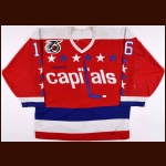1991-92 Alan May Washington Capitals Game Worn Jersey - Photo Match