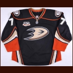 "2013-14 Devante Smith-Pelly Anaheim Ducks Game Worn Jersey – Alternate – ""20-year Anniversary"""