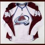 2007-08 Ryan Smyth Colorado Avalanche Game Worn Jersey - Team Letter
