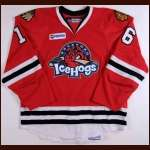 2008-09 Nathan Davis Rockford Ice Hogs Game Worn Jersey - AHL Letter - Miami University (Ohio) Alum