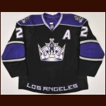 2009-10 Matt Greene Los Angeles Kings Game Worn Jersey – Team Letter