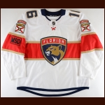 "2017-18 Aleksander Barkov Forida Panthers Game Worn Jersey – ""MSD – Parkland"" - All Star Season - Photo Match – Team Letter"