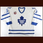 1992-93 Bob Halkidis Toronto Maple Leafs Pre-Season Game Worn Jersey – Team Letter