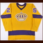 1969-70 Leon Rochefort Los Angeles Kings Game Worn Jersey - Photo Match