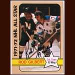 1972-73 Topps  Rod Gilbert AS New York Rangers - Autographed