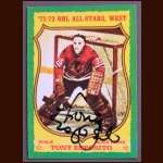 1973-74 Topps Tony Esposito AS Chicago Black Hawks - Autographed