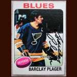 1975-76 Topps Barclay Plager - Autographed - Deceased