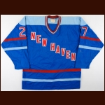 1982-83 Victor Nechaev New Haven Nighthawks Game Worn Jersey - 1st Russian to Play in the NHL - Photo Match