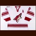 2005-06 Mike Ricci Phoenix Coyotes Game Worn Jersey - Photo Match