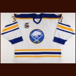 1991-92 Daren Puppa Buffalo Sabres Game Worn Jersey - Photo Match - Video Match