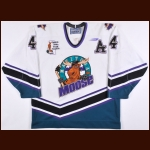"1998-99 Michael Stewart Manitoba Moose Game Worn Jersey – ""Yearling Foundation"""