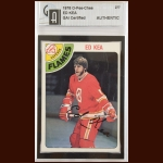 1978-79 OPC Ed Kea Atlanta Flames Autographed Card – Deceased – GAI Certified