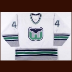 1993-94 Chris Pronger Hartford Whalers Game Worn Jersey – Rookie - Photo Match