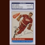 Ted Lindsay 1954 Topps – Detroit Red Wings – Autographed – PSA/DNA - GEM MINT 10