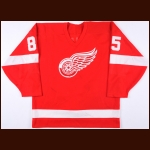 1986-87 Petr Klima Detroit Red Wings Game Worn Jersey