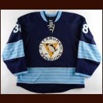 2010-11 Nick Johnson Pittsburgh Penguins Game Worn Jersey – Alternate – Vintage - Photo Match – Team Letter