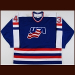 1987 Moe Mantha Team USA Canada Cup Pre-Tournament Game Worn Jersey