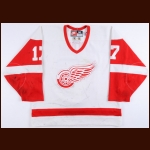 1998-99 Doug Brown Detroit Red Wings Game Worn Jersey - Photo Match