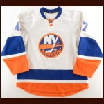 2012-13 Andrew MacDonald New York Islanders Game Worn Jersey – Photo Match – Team Letter