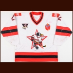 1993-94 Albert Leschev UCKA Central Red Army Russian Penguins Game Worn Jersey - Inaugural Season