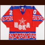 1997-98 Denis Khlopotnov UCKA Central Red Army Game Worn Jersey