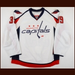 2008-09 David Steckel Washington Capitals Game Worn Jersey - Photo Match – Team Letter