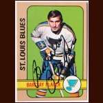 1972-73 Topps Barclay Plager St. Louis Blues - Autographed - Deceased