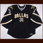 2009-10 Alex Auld Dallas Stars Game Worn Jersey