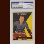 Ed Shack 1958 Topps - New York Rangers - Autographed - PSA/DNA