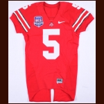 "2008 Ohio State Buckeyes Game Jersey – Player #5 (Possibly Chimdi Chekwa) - ""BCS National Championship New Orleans 2008"""