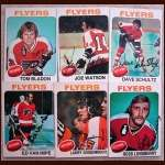 1975-76 Autographed Philadelphia Flyers Card Group of 6