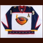 2002-03 Dany Heatley Atlanta Thrashers Game Worn Jersey - 2nd NHL Season - All Star Season - Photo Match – Team Letter