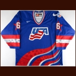 "1996 Phil Housley Team USA World Cup of Hockey Game Issued Jersey – ""1996 World Cup of Hockey"" – USA Hockey Letter"