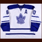 2008-09 Nikolai Antropov Toronto Maple Leafs Game Worn Jersey – Alternate - Team Letter