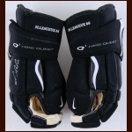 Mario Lemieux Pittsburgh Penguins Black Nike Game Issued Gloves – Autographed