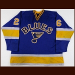 1984-85 Terry Johnson St. Louis Blues Game Worn Jersey - Photo Match
