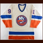 1983-84 Butch Goring New York Islanders Stanley Cup Finals Game Worn Jersey - Photo Match