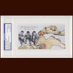 The Kid Line Autographed Card - Charlie Conacher, Harvey Jackson, Joe Primeau - The Broderick Collection - Deceased