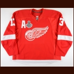 "2008-09 Pavel Datsyuk Detroit Red Wings Stanley Cup Finals Game Worn Jersey – ""2009 Stanley Cup Finals"" - 2nd Team NHL All Star - Career Best 32-Goal & 97-Point Season - Photo Match"