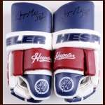 Wayne Gretzky New York Rangers Red, White & Blue Hespeler Autographed Gloves - Unused