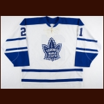2000-01 Adam Mair Toronto Maple Leafs Game Worn Jersey – Alternate – Team Letter