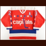 1986-87 Bob Gould Washington Capitals Game Worn Jersey
