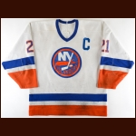 1987-88 Brent Sutter New York Islanders Game Worn Jersey - Photo Match