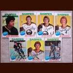 1975-76 Autographed Buffalo Sabres Card Group of 7
