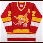 1976-77 Bill Butters WHA Minnesota Fighting Saints Game Worn Jersey