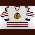 1993-94 Jeremy Roenick Chicago Blackhawks Game Worn Jersey - 46-Goal Season - Career Best 61 Assist & 107-Point Season - All Star Season
