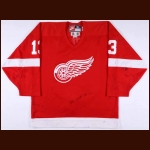 1998-99 Vyacheslav Kozlov Detroit Red Wings Game Worn Jersey - Photo Match