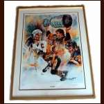 Mario Lemieux Beautiful Lithograph - Matted and Framed - Limited Edition