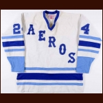 1977-78 Glen Irwin & Keke Mortson Houston Aeros Game Worn Jersey - Final WHA Game at the Summit – Video Match