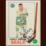1969-70 Topps Gerry Ehman Oakland Seals Autographed Card – Deceased